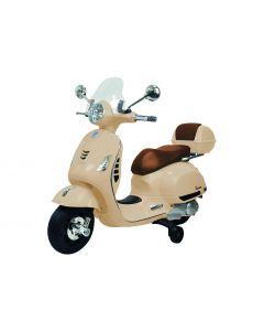 Vespa Moto Elettrica GTS 12V Crema Con Fari a Led Bauletto MP3
