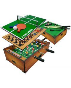 Multigioco 6 in 1 da Tavolo - Calciobalilla / Ping Pong / Tavolo da Biliardo / Scacchi / Dama & Backgammon