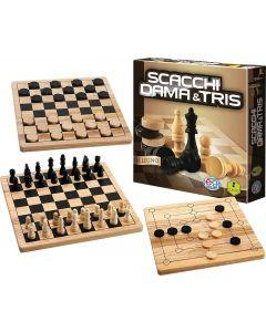 Scacchi Dama & Tris in Legno - Spin Master 6037172