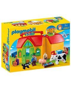 Playmobil 1-2-3 fattoria portatile apri e gioca