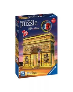 Ravensburger 12522 - Puzzle 3D Arco di Trionfo, Night Edition 216 pezzi