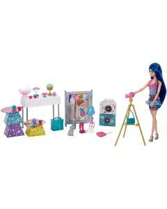Barbie - Color Reveal Festa a Sorpresa con Bambola Barbie, Bambola Chelsea e 2 Cuccioli Color Reveal