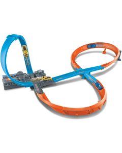 Hot-Wheels - Pista a 8 con Loop Motorizzato e Macchinina, GGF92