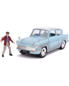 Harry Potter Auto Ford Anglia  1:24 Con Personaggio Di Harry