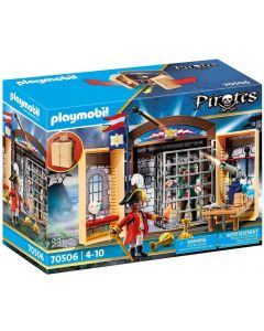 Playmobil 70506 - Play Box Avamposto della Marina con pirata
