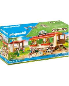 Playmobil Country 70510 - Ranch dei Pony con roulotte