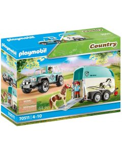 Playmobil Country 70511 - Fuoristrada con rimorchio