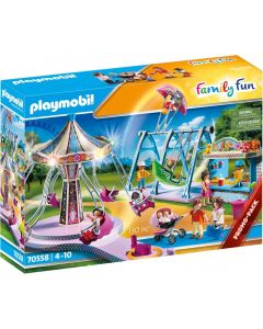 Playmobil Family Fun 70558 - Lunapark con luci