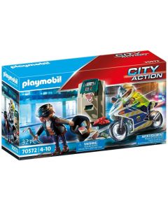 Playmobil City Action 70572 - Poliziotto in moto e ladro