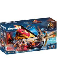 Playmobil Nave Infuocata Dei Guerrieri Di Burnham Gioco