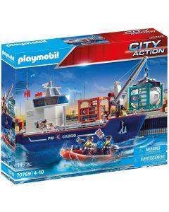 Playmobil Nave Da Carico Con Container
