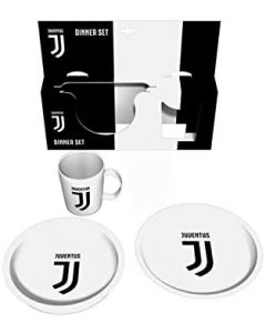 Set Dinner bianconero 3 pz Piatto Piano + Fondo + Tazza - Real Trade RYC08JV