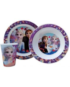 Set Pappa 3 Pezzi Frozen II Disney - Real Trade 09452