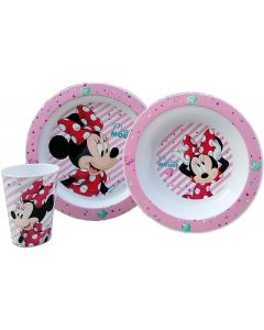 Minnie - Set Pappa 3pz 2 Piatti+Bicchiere - Real Trade 09461