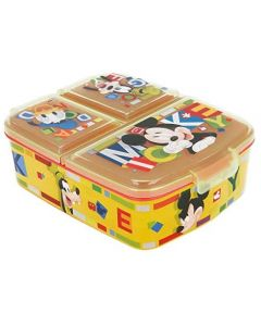 Mickey Mouse - Porta merenda a 3 Scomparti per Bambini - Real Trade 44220