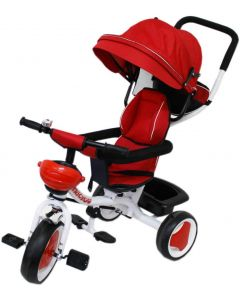 Triciclo in Metallo Rosso