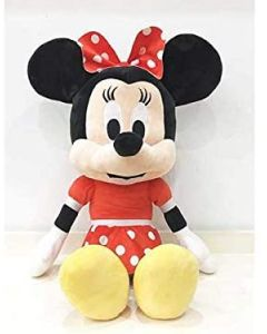 Peluche Minnie Vestito Rosso Cm.54