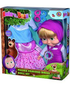 Masha Bambola con Melodia 30 cm Inclusi 2 Set Abiti