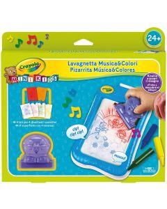 Crayola- Mini Kids Lavagnetta da Disegno Musica&Colori