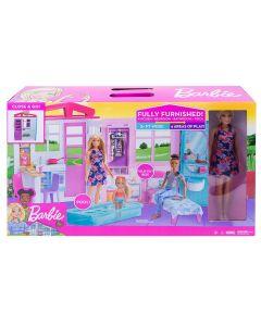 Barbie Casa Portatile con Bambola FXG55