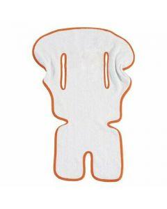 Italbaby - Copriseggiolone Universale Spugna Bianco/Arancione