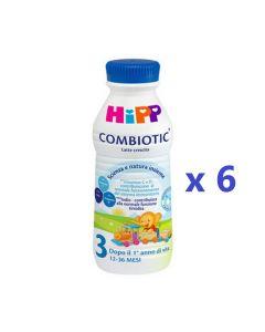 Hipp Latte Combiotic 3 Liquido - 6 Bottiglie da 470ml