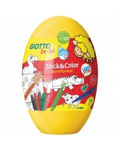 Fila Giotto Be-bé Uovo Stick&Color - 472700