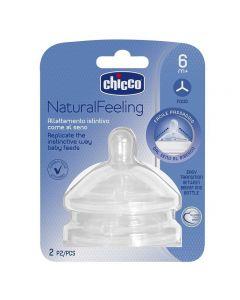 Chicco Tettarella Natural Feeling Flusso Pappa 2 pezzi